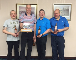 2015 Winners - From L to R Kevin Keenan lead, Drew Moffat skip, David Hall 3rd and Tom McGregor 2nd